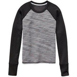 Athleta Tops - Athleta Snowscape Quilted Sweatshirt Small Black
